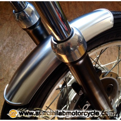 Parafango Anteriore in Alluminio Corto Cafè Racer Style da 100mm