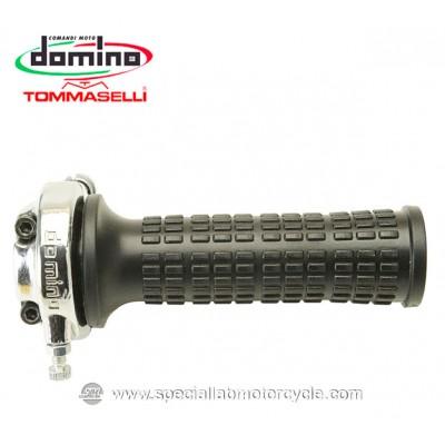Comando Gas Monocavo Domino Tommaselli Lario 22mm Rally Cafe' Racer Vintage Style Black