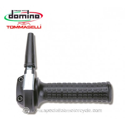 Comando Gas Monocavo Domino Tommaselli Ghepard 22mm Rally Cafe' Racer Vintage Style Black