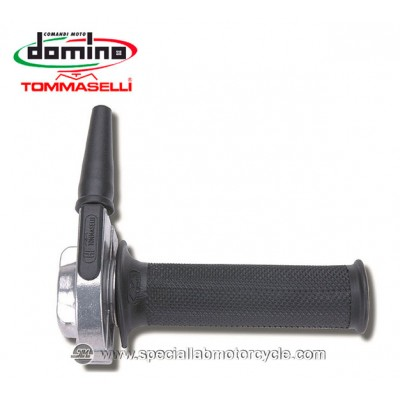 Comando Gas Monocavo Domino Tommaselli HF 22mm Rally Cafe' Racer Vintage Style Black