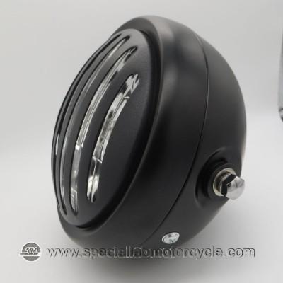"""Faro Anteriore con griglia Cafè Racer Style Black 5 3/4"""""""