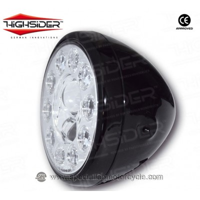 "Faro Anteriore Highsider Full LED Reno Style Type 1 da 7"""