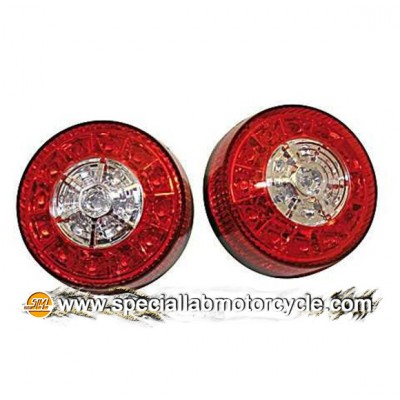 Fanalino Posteriore Multifunzione LED Red Clear Lens