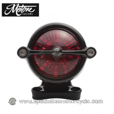 Motone Custom Kit Fanalino Posteriore Led Bel Air Alluminio Nero