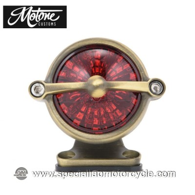 Motone Custom Kit Fanalino Posteriore Led Bel Air Ottone