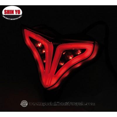 Shin Yo Fanalino Posteriore LED OEM Style per Yamaha XZF R1 Dal 2009 al 2014