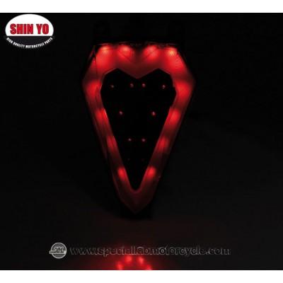 Shin Yo Fanalino Posteriore LED OEM Style per Yamaha XZF R6 Dal 2008 al 2015
