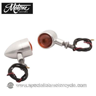 Frecce Cafe Racer Alogene Motone Custom Bullet Style Alluminio Lucidato