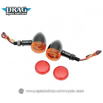 Frecce Alogene Drag Specialties Bullet Mini Deuce Long Black
