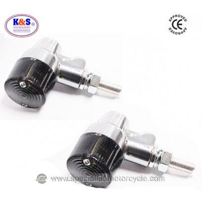 Frecce Cafe Racer Alogene Cancan K&S Alluminio Lucidato ECE
