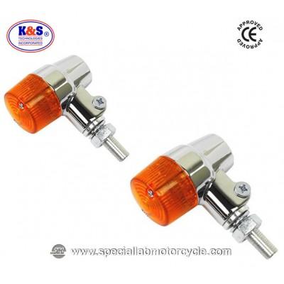 Frecce Cafe Racer Alogene Cancan K&S Alluminio Cromato ECE