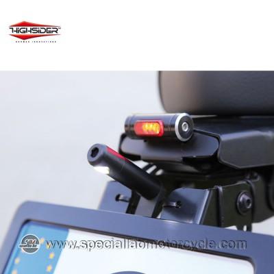Luci Targa LED Highsider Round Black ECE
