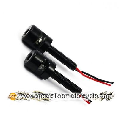Coppia Luci Targa LED Mini Black Gloss M6