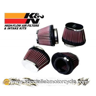 KIT 4 Filtri Aria Ovali K&N Performance 54x70mm per Kawasaki
