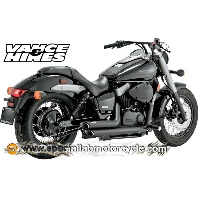 Impianto di scarico Vance&Hines Shortshots Staggered Black Matt Honda VT 750 Shadow Aero 04-09 /Spirt 07-10/Phantom 10-11