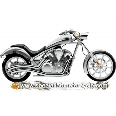 Impianto di scarico Cobra Speedster Swept Honda VT1300 CX ABS Fury 2010-2013 / VT1300 Fury / VT1300 Stateline / VT1300 CS Sabre
