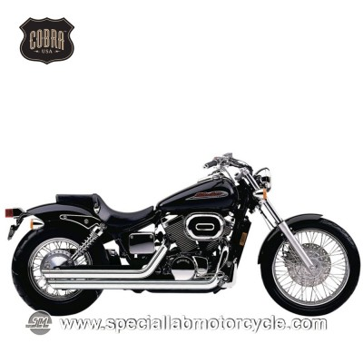 Impianto di scarico Cobra Slash Downs Street Rod 2 in 2 Honda VT 750DC Black Window/Spirit
