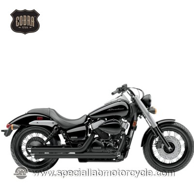 Impianto di scarico Cobra Slash Downs Street Rod 2 in 2 Honda VT 750CS/C2 Shadow/Aero/Spirit/Phantom Black