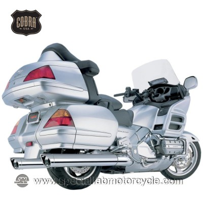 Finali di scarico Cobra Muffler Classic Scalloped Long 102mm Slip On Honda GL 1800 Goldwing