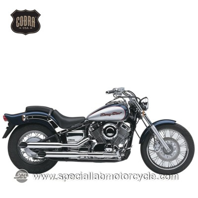 Sistema di scarico Cobra Slash Cut Classic Honda VT 1100 Shadow
