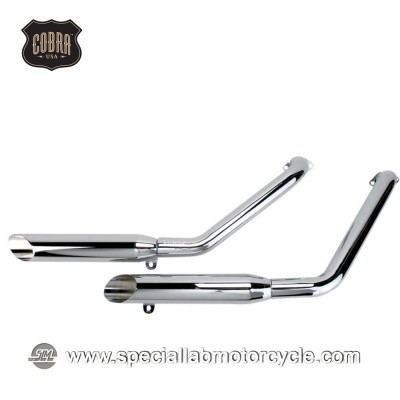 Sistema di scarico Cobra Slash Cut Classic Honda VT 1100 Shadow/Spirit