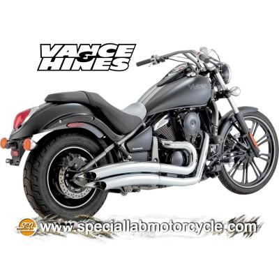 Impianto di scarico Vance&Hines Big Radius 2 in 2 Kawasaki VN 900 Classic / Custom / Light Tourer 2006-2014