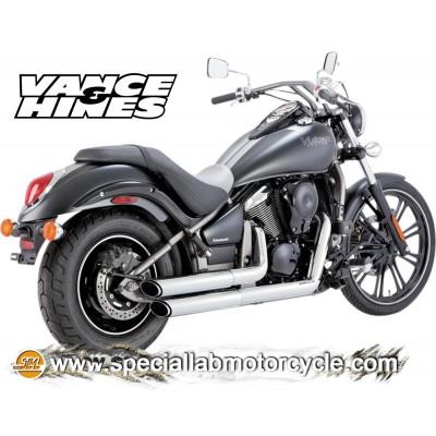 Impianto di scarico Vance&Hines Twin Slash Staggereds Kawasaki VN 900 Classic/Classic LT/Custom/Vulcan 2006-2014