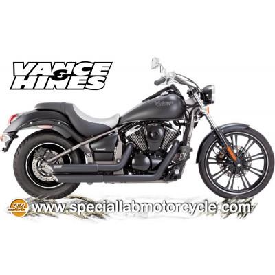 Impianto di scarico Vance&Hines Twin Slash Staggereds Black Matt Kawasaki VN 900 Classic/Classic LT/Custom/Vulcan 2006-2014