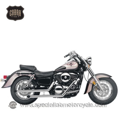 Sistema di scarico Cobra Slash Cut Classic Deluxe Kawasaki VN1500/1600 Vulcan Classic/FI