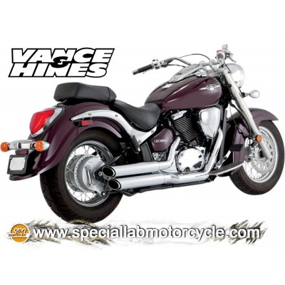 Impianto di scarico Vance&Hines Twin Slash Staggereds Suzuki VL 800 C Intruder / VZ 800 M Intruder / C50 / M50 Boulevard 2005-20