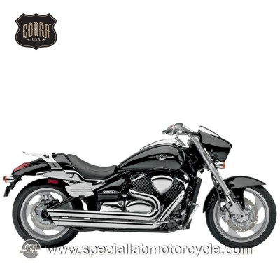 Impianto di scarico Cobra Speedster Street Rod Slash Downs 2 in 2 Suzuki VZ 1500/M Intruder/Boulevard