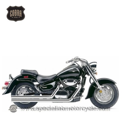 Impianto di scarico Cobra Speedster Hot Rod Long 2 in 2 Suzuki VL 1500C Intruder