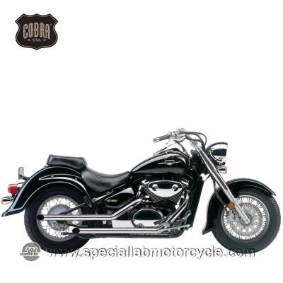 Sistema di scarico Cobra Drag Pipes 50,8mm Suzuki VL/VZ/800 M/C Volusia/Intruder/Boulevard