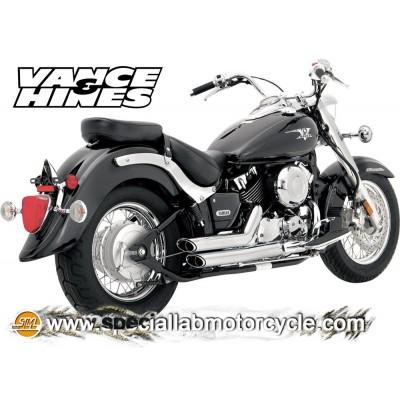 Impianto di scarico Vance&Hines Shortshots Staggered Yamaha XVS 650 V-Star 06-10 / Drag Star Classic 97-07