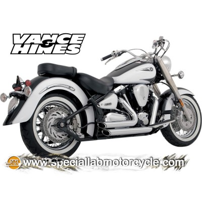 Impianto di scarico Vance&Hines Shortshots Staggered Yamaha XV 1600 Wild Star/Roadstar 99-05 / 1700 Road Star 05-07