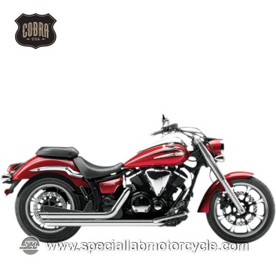 Impianto di scarico Cobra Speedster Street Rod Slash Downs 2 in 2 Yamaha XVS950 Midnight Star/V-Star