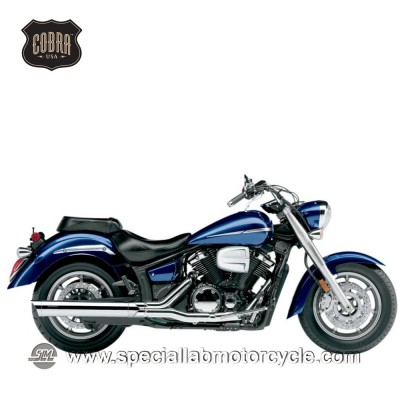 Finali di scarico Cobra Muffler 102mm Slip On Dual Cut Yamaha XVS1300 Midnight/ V-Star/Tourer