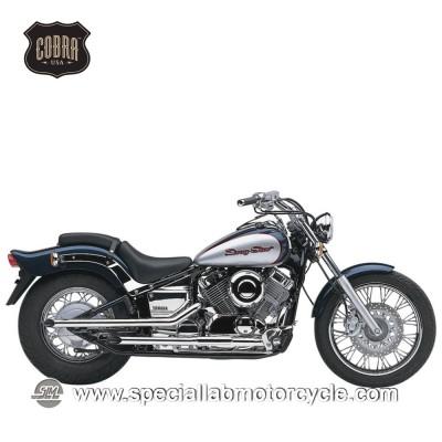 Sistema di scarico Cobra Drag Pipes 50,8mm Yamaha XVS650 Drag Star/-V-Star Classic/Custom