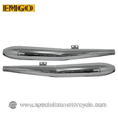 Terminale Scarico Emgo Muffler Slip On BMW OEM Style 1969 - 1973