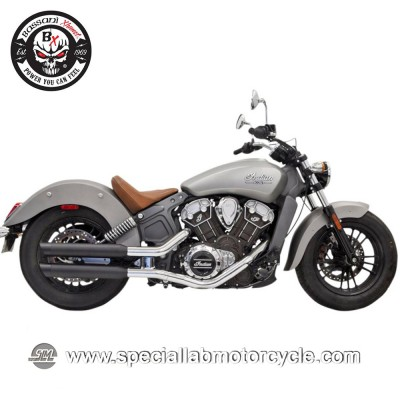 "Bassani Finale di Scarico Muffler Slip On 3"" per Indian Scout"