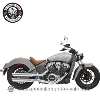 "Bassani Finali di Scarico Slip On 3"" per Indian Scout/60/Bobber"