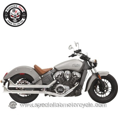 "Bassani Finali di Scarico Slip On 2-1/4"" Fishtail per Indian Scout/60/Bobber"
