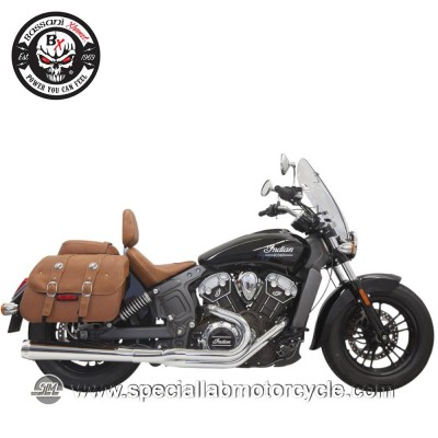 Bassani Sistema di Scarico 2 in 1 Road Rage Megaphone Long per Indian Scout/60/Bobber