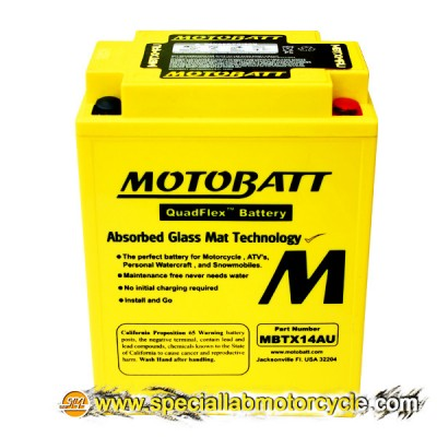 Batteria Sigillata MotoBatt MBTX14AU 12V-16,5Ah per Ducati