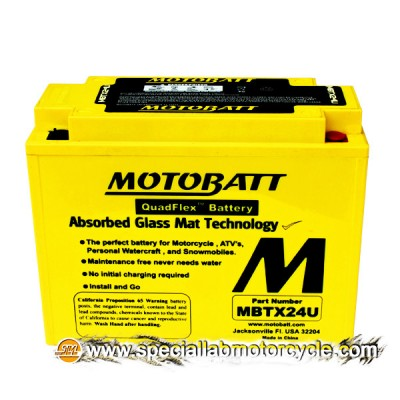 Batteria Sigillata MotoBatt MBTX24U 12V-25Ah per Kawasaki