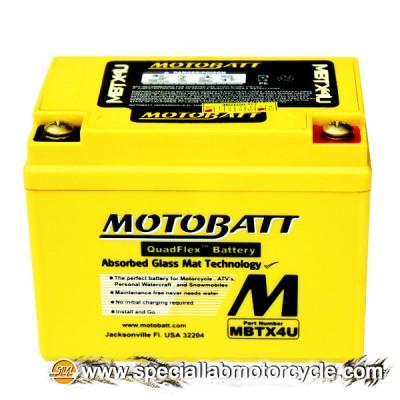 Batteria Sigillata MotoBatt MBTX4U 12V-4Ah per Suzuki