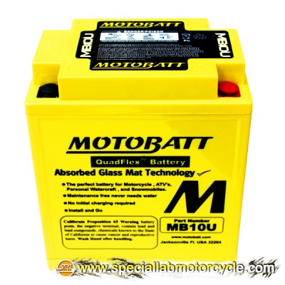 Batteria Sigillata MotoBatt MB10U 12V-14Ah per Suzuki