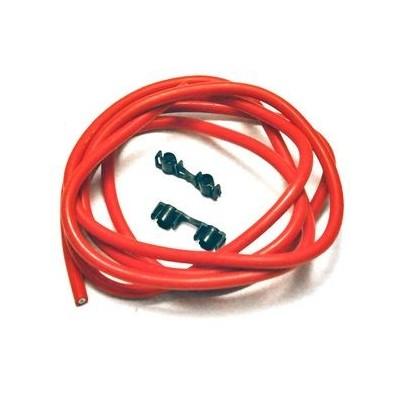 Cavo Candela 7mm Siliconato Rosso 2 Metri