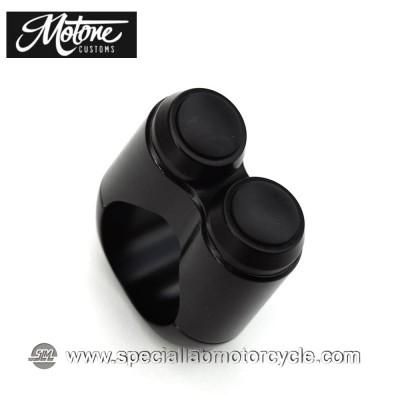 Motone Custom Switch 2 Pulsanti Nera