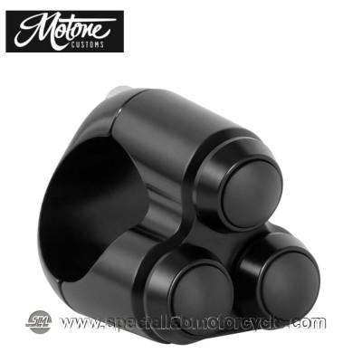 Motone Custom Switch 3 Pulsanti Nera